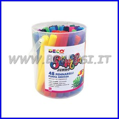 Pennarelli samba jumbo barattolo pz. 48