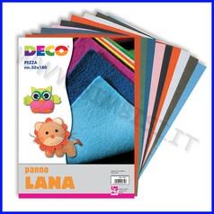 Panno lana - album 10 fogli cm. 20x30 col.ass.
