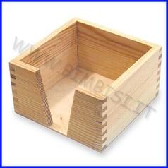 Supporti in legno: portafoglietti cm.11,5x11,5x6,5