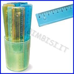 Righelli cm. 18 barattolo 24 pezzi colori assortiti