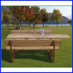 Tavolo/panche corpo unico 194cm/tavolo 245 cm per diversamente abili