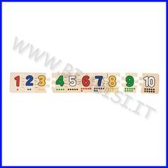 Puzzle cm.45x6,7 sacchetto cotone - numeri (10 pz.)