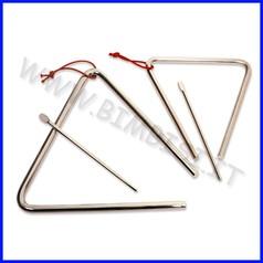 Strumenti musicali triangolo 15cm in acciaio cromato + battente