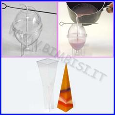Stampo candele piramide h 22 cm