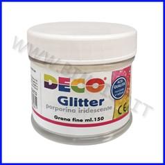 Glitter grana fine barattolo ml150 porporina iridescente