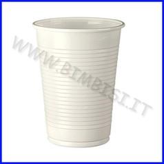 Bicchieri plastica bianchi 200cc cf 100p