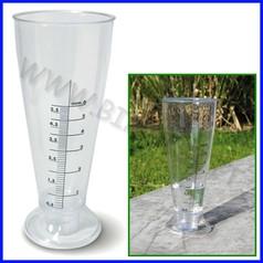 Sistemi misurazione pluviometro d.9x22cm graduato da 0,5 a 6 mm.