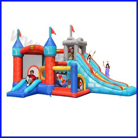 Castello gonfiabile happyhop medioevo dim.cm 485x320x295