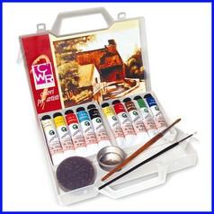 Colori a olio valigetta 10 tubi+accessor