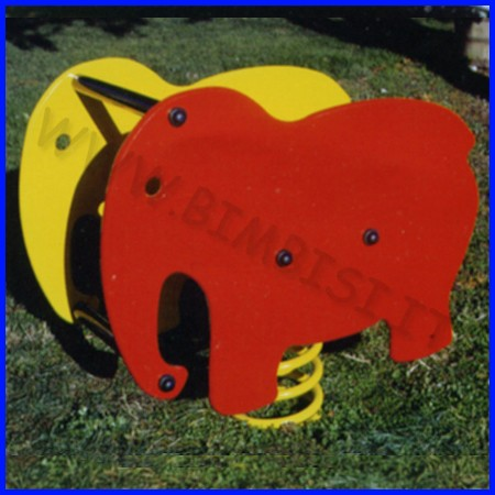 Gioco a molla bi-elefante