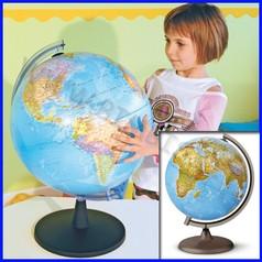 Globo geografico diam. cm.26 illuminato