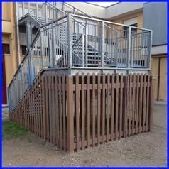 Staccionata per esterno in pvc riciclato e farina di legno mt 2x1