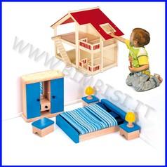 Casa delle bambole-camera da letto 10 pz