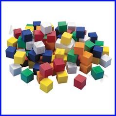 Cubetti in plastica cm 1 barattolo 350pz