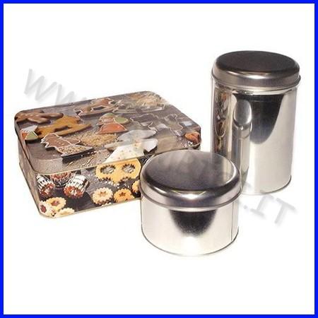 Scatola metallo cilindrica - diam. cm.11 x 8,5 h fino ad esaurimento