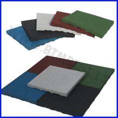Pavimentazione antitrauma gomma sbr 70mm certificata hic 2mt