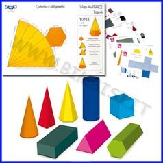 Solidi geometrici in cartone 8 pz