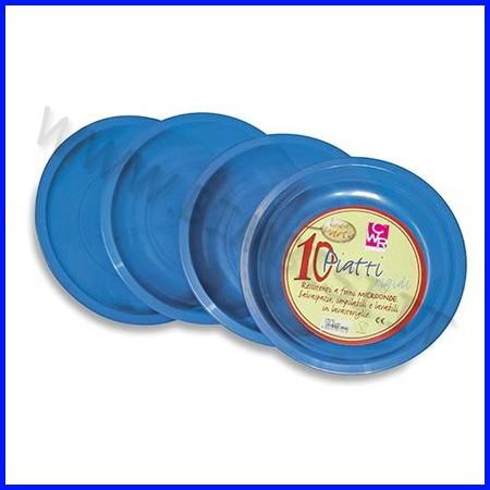 Piatti tondi blu diam.22.5 cf.10 pz