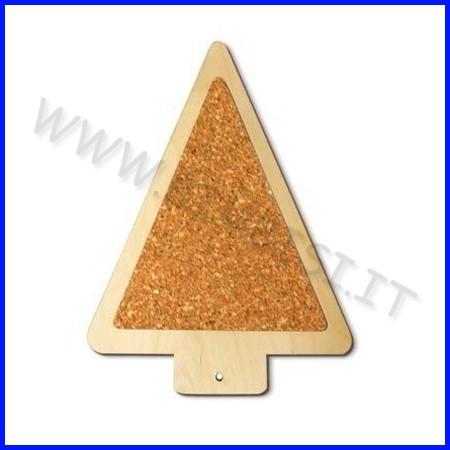 Sottopentola legno/sughero cm.20-albero