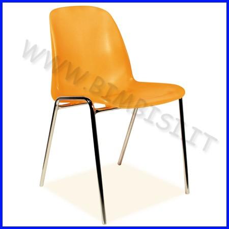 Sedia adulti senza braccioli - arancio