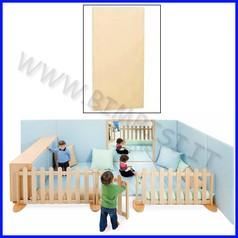 Elemento imbottito a parete da 0 a 65 cm 0-65x4x130