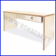 Cattedra scrivania c/cassetto linea simp e serratura c/chiave 150x65x76h cm