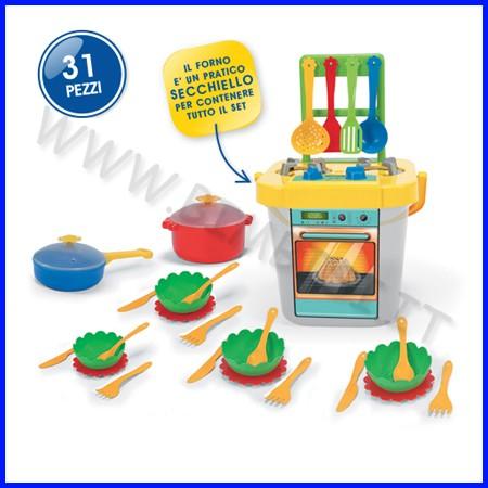 Cucina plastica con accessori 31 pezzi