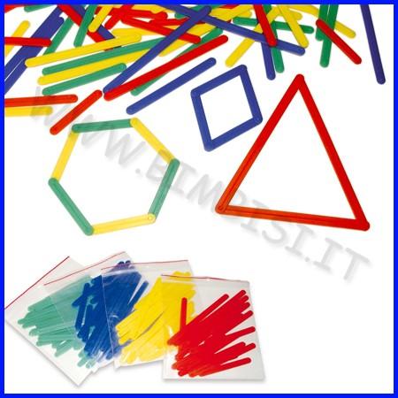 Stecchette geometriche set 72 pezzi