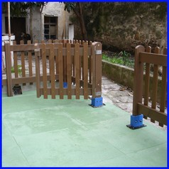 Cancello per esterno in pvc riciclato e farina di legno mt 3x1h