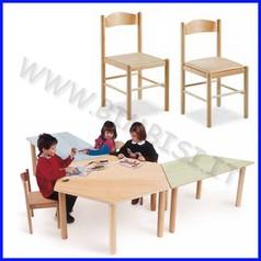 Sedia adulti con seduta in legno dim.cm 42x42x46/83