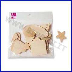 Sagome in legno soggetti ass. set 24 pz