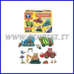 Puzzle Mezzi di trasporto cm 13x16 set 4 pz