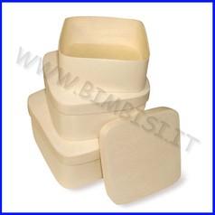Supporti in legno: scatole quadrate set 3 pezzi