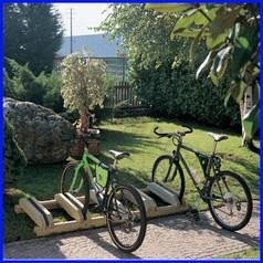 Portabici velo cm 150 - 4 posti in legno dim.cm 150x65