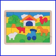 Puzzle legno la fattoria 55 pezzi