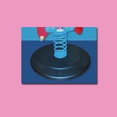 Base removibile per gioco a molla da interno