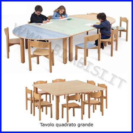 Tavolo quadrato grande nido 130x130x46