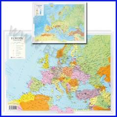 Carta geografica da banco europa 42x29,7