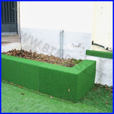 Protezione su misura erba sintetica spessore 5 cm