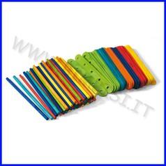 Stecche legno tonde+stick barattolo 100