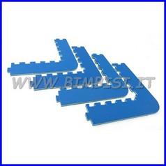 Pavimento ammortizzante puzzle: 4 angoli cm74x10 sp.1.5 cl.1