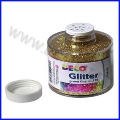 Glitter grana fine barattolo ml.150 oro