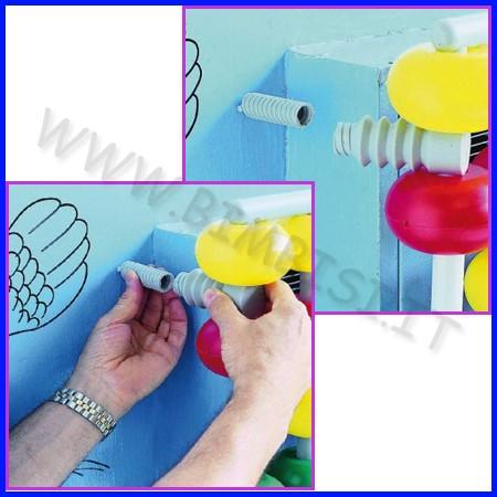 Protezioni di sicurezza biball kit di fissaggio al muro per copritermosifoni