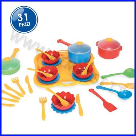 Stoviglie plastica set cena - 31 pezzi