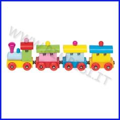 Trenino in legno con vagoni magnetici cm.25x4x5,5