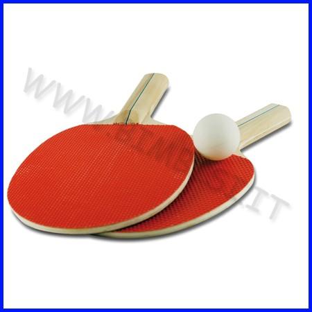 Racchette ping pong confezione 2 pezzi