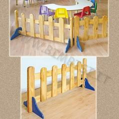 Recinto staccionata in legno con piedini dim.cm 120x60h