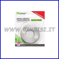 Nastro adesivo trasp. mm.15x33mt blister
