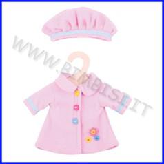 Bambola cm 30 vestitino rosa e cappello