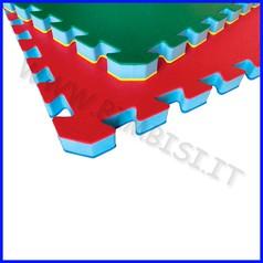 Mattonella in eva bicolore 100x100 sp2.5 rosso/blu